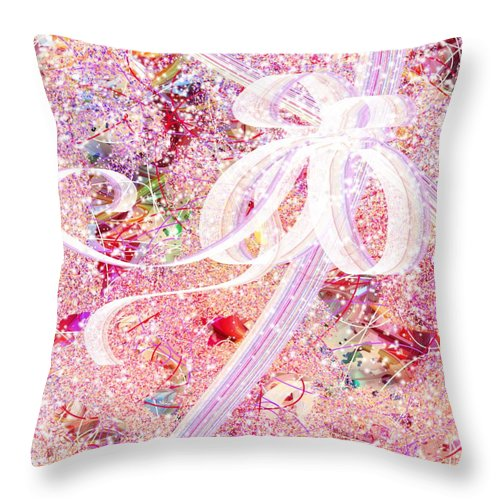 Santa Throw Pillow featuring the digital art Santa's Window by Rachel Christine Nowicki