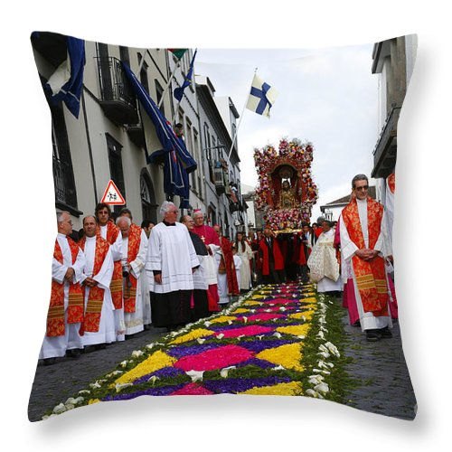 Procession Throw Pillow featuring the photograph Santo Cristo Dos Milagres by Gaspar Avila