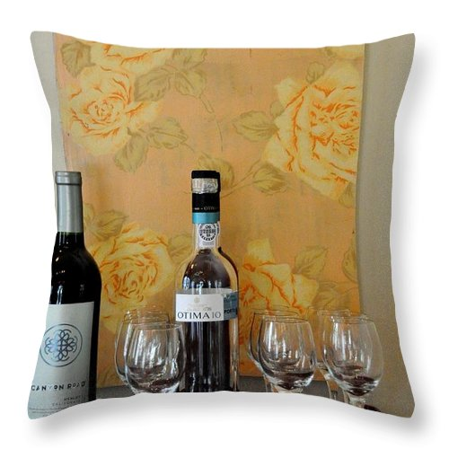 Key West Throw Pillow featuring the photograph Sara Beth's Wine Rack by John Black