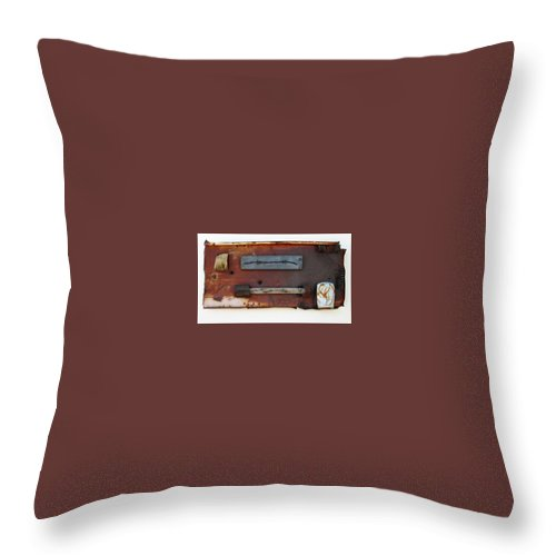 Assemblage Sculptures Throw Pillow featuring the sculpture Savory Truffle by Snake Jagger