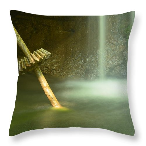 Urban Decay Throw Pillow featuring the photograph Sawmill Ruins by Todd Schworm