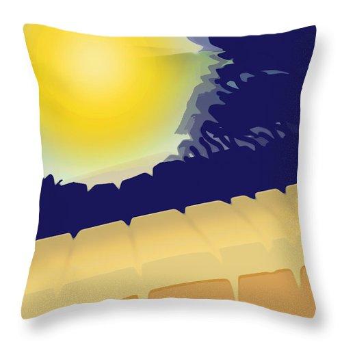 Abstract Throw Pillow featuring the digital art Scorcher by Ian MacDonald