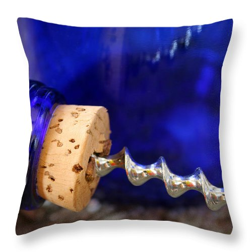 Close-up Throw Pillow featuring the photograph Screwed by Darren Fisher