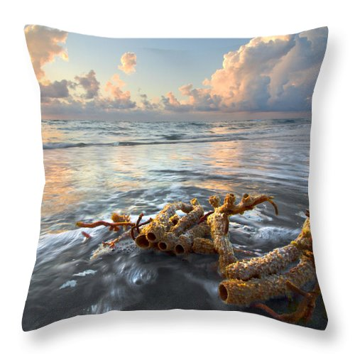 Clouds Throw Pillow featuring the photograph Sea Jewel by Debra and Dave Vanderlaan