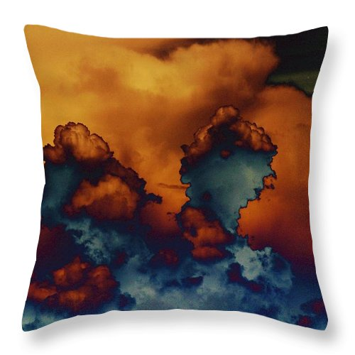 Clouds Throw Pillow featuring the photograph Sea Of Clouds by One Rude Dawg Orcutt