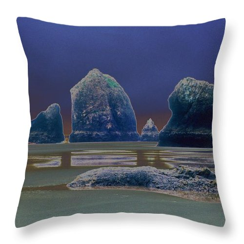 Water Throw Pillow featuring the photograph Sea Stacks On The Oregon Coast by One Rude Dawg Orcutt