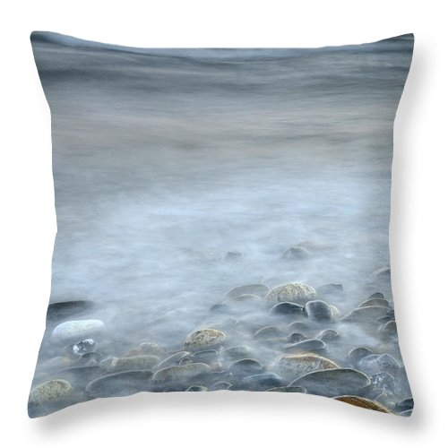 Sunset Throw Pillow featuring the photograph Sea Stones by Guido Montanes Castillo