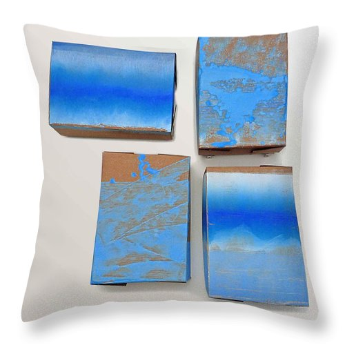 Surf Throw Pillow featuring the painting Sea View by Charles Stuart