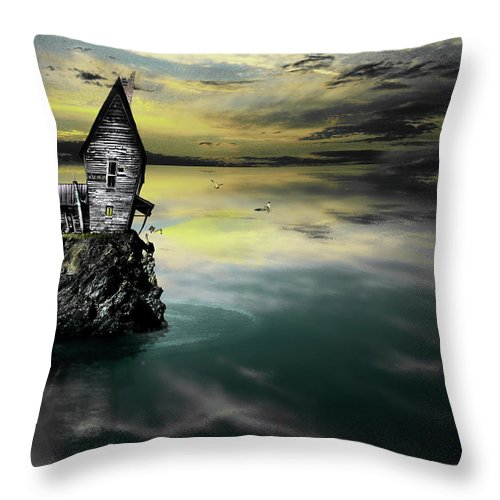 Gray Artus Throw Pillow featuring the photograph Seagull Island by Gray Artus