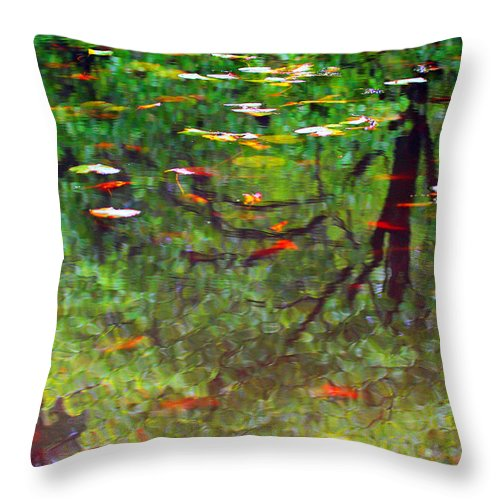 Reflection Throw Pillow featuring the photograph Seasons Reflect by Karol Livote