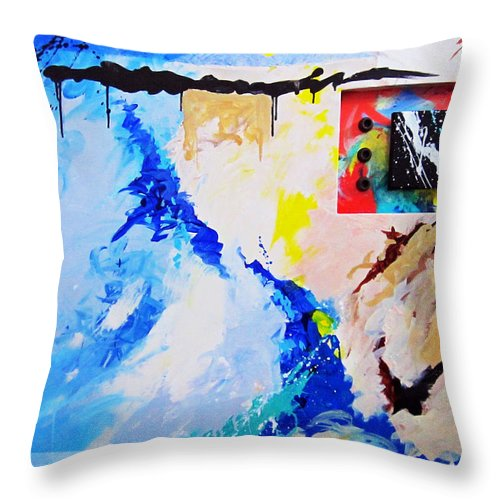Abstract Throw Pillow featuring the painting Secret Ambition by Snake Jagger