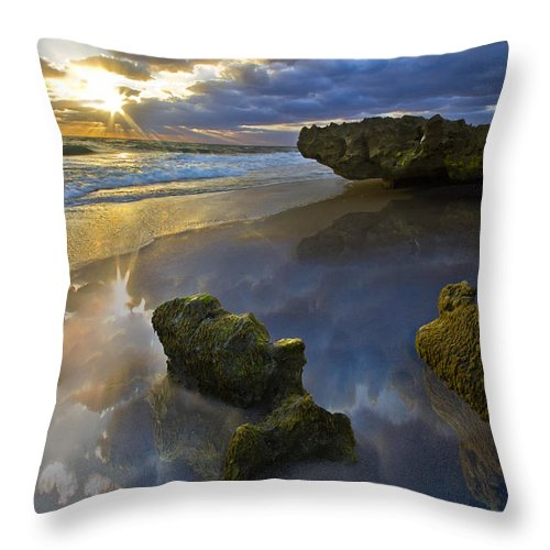 Clouds Throw Pillow featuring the photograph Secret Cove by Debra and Dave Vanderlaan