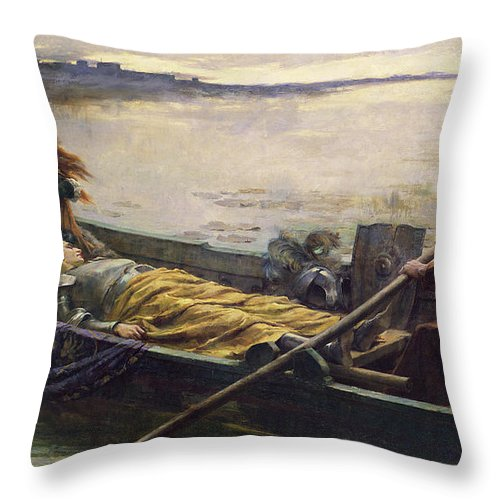 Seeking Sanctuary Throw Pillow featuring the painting Seeking Sanctuary by George Sheridan Knowles