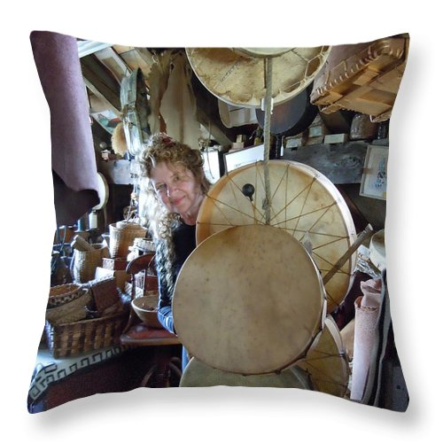Portrait Throw Pillow featuring the photograph Self Portrait 2010 by Nancy Griswold
