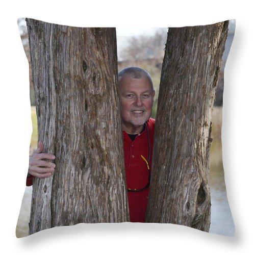 Paul Mashburn Throw Pillow featuring the photograph Self Portrait by Paul Mashburn