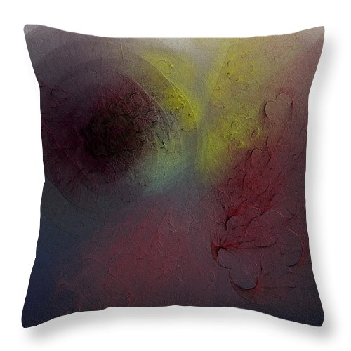 Textured Throw Pillow featuring the digital art Senas by Jeff Iverson