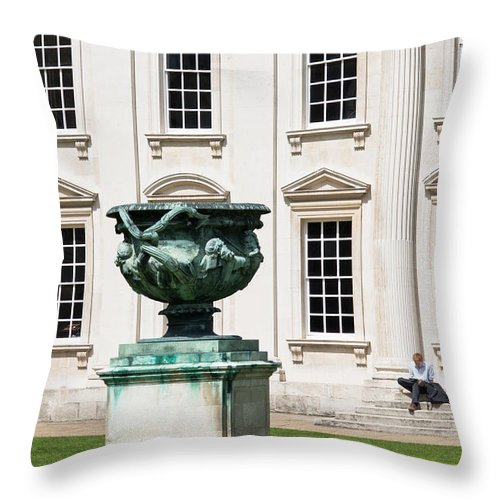 Cambridge Throw Pillow featuring the photograph Senate House Cambrdige by Andrew Michael
