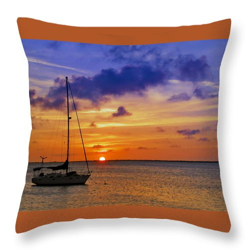 Ocean Throw Pillow featuring the photograph Serenity 2 by Stephen Anderson