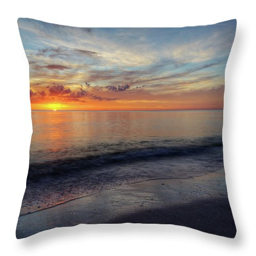 Sunset Throw Pillow featuring the photograph Setting Colors by Nick Shirghio