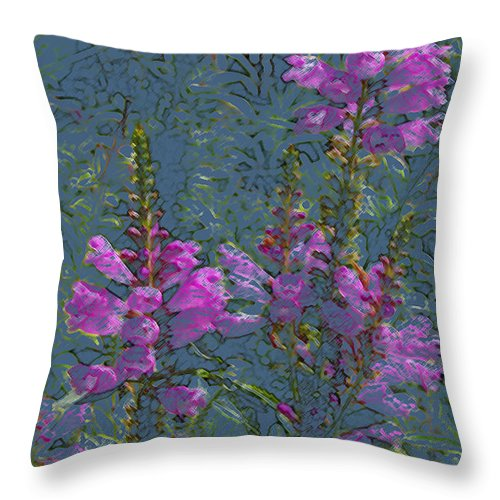 Flower Throw Pillow featuring the photograph Shades Of Purple by Veron Miller