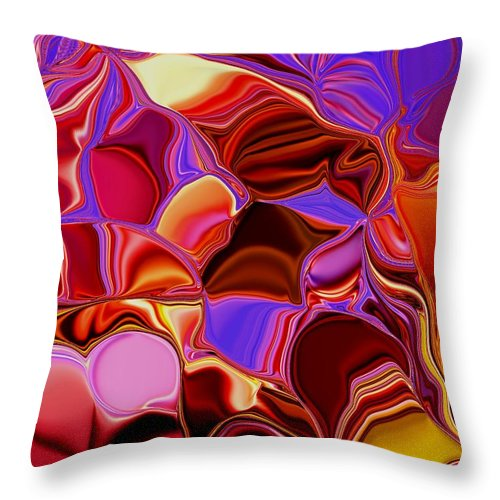 Colors Throw Pillow featuring the painting Shades Of Satin by Renate Nadi Wesley