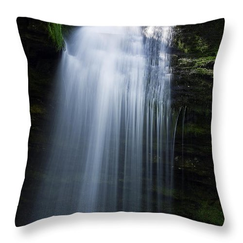 Moss Throw Pillow featuring the photograph Shadow Falls by Joseph Noonan