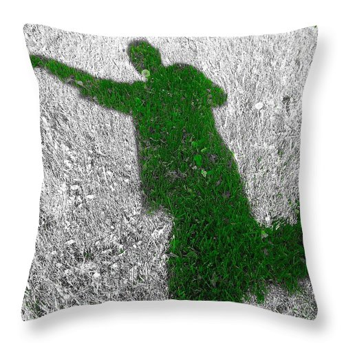Shadow Throw Pillow featuring the photograph Shadow Play by Donald Black