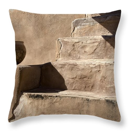 Bronstein Throw Pillow featuring the photograph Shadows Of Tumacacori by Sandra Bronstein
