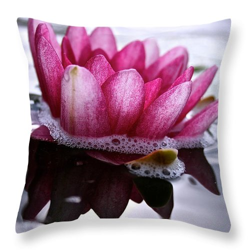 Floral Throw Pillow featuring the photograph Shadows by Susan Herber