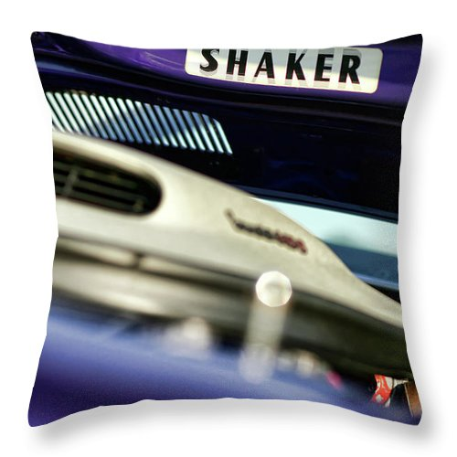 Plymouth Throw Pillow featuring the photograph Shaker Hood by Gordon Dean II