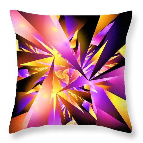 Shattered Throw Pillow featuring the digital art Shattered by Ricky Barnard