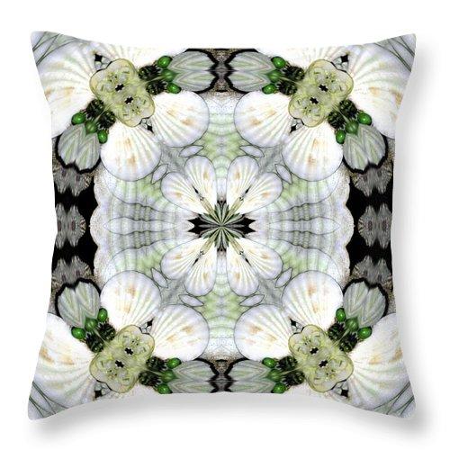 Shell Art Throw Pillow featuring the digital art Shell Art 4 by Maria Urso