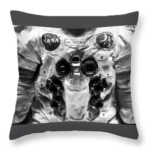 Fine Art Photography Throw Pillow featuring the photograph Shepard And Apollo 14 by David Lee Thompson