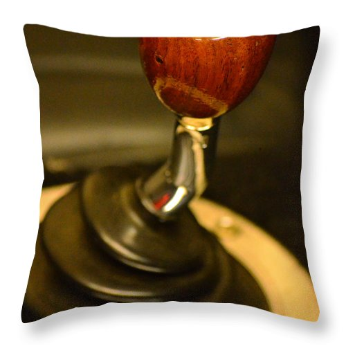 Vintage Automobile Throw Pillow featuring the photograph Shifter by Newel Hunter