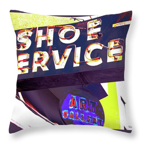 Shoe Throw Pillow featuring the photograph What A Pair by Beth Saffer
