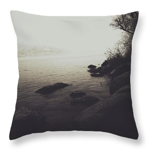 Rural Decay Throw Pillow featuring the photograph Shores Decore by The Artist Project