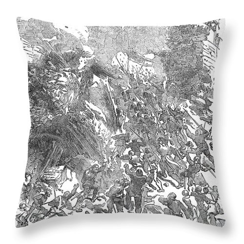 1169 Throw Pillow featuring the photograph Siege Of Waterford, 1169 by Granger