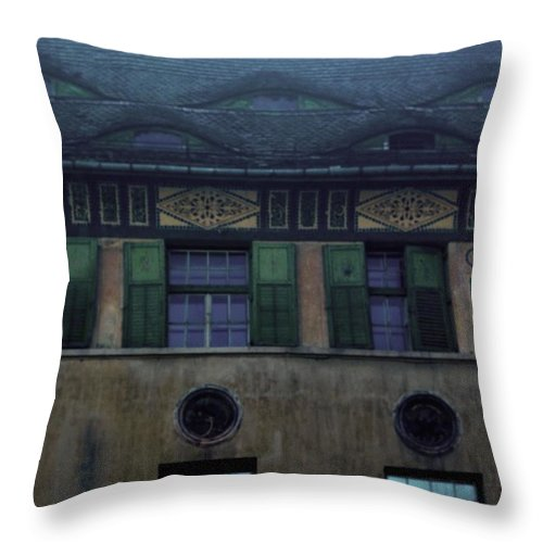 Sighisoara Throw Pillow featuring the photograph Sighisoara Old Town Eyes by Amalia Suruceanu