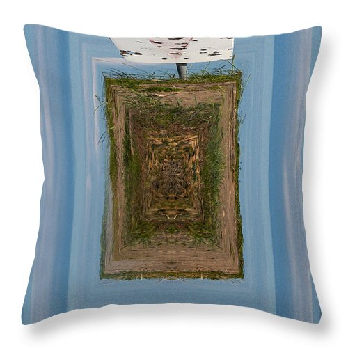 Gulf Of Bothnia Throw Pillow featuring the photograph Signmark by Jouko Lehto