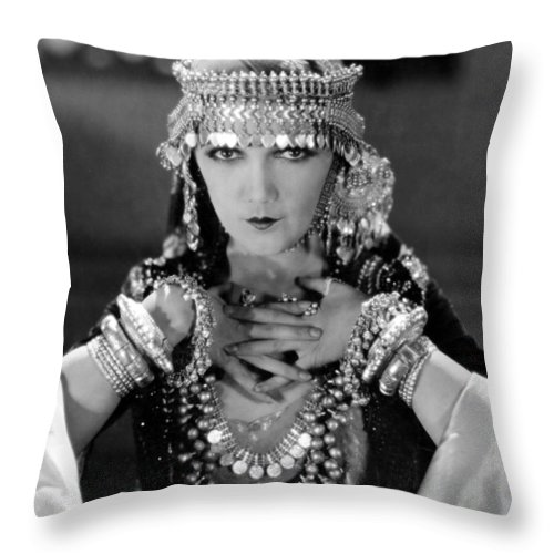 -women Costumes- Throw Pillow featuring the photograph Silent Film Still: Costume by Granger
