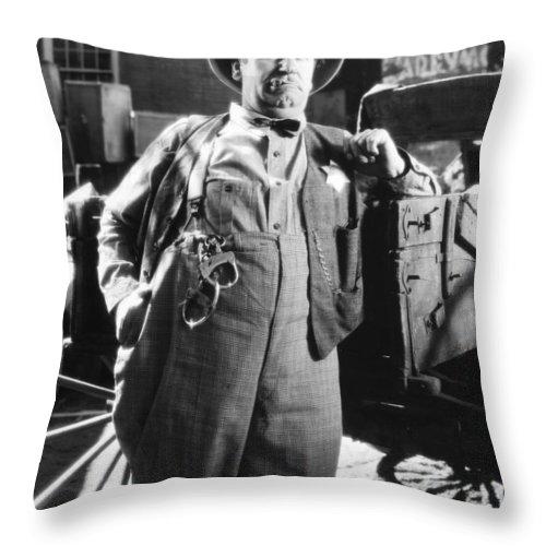 -man Single- Throw Pillow featuring the photograph Silent Still: Single Man by Granger