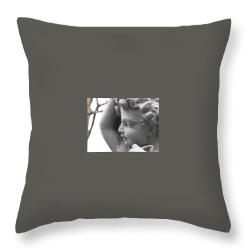 Cherub Throw Pillow featuring the photograph Silent Watcher by Michele Nelson