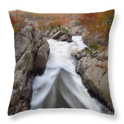 Water Throw Pillow featuring the photograph Silken Water Tent by Rrrose Pix
