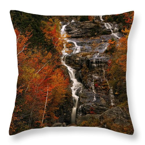 Waterfall Throw Pillow featuring the photograph Silver Cascade by Tamara Brown