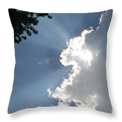 Clouds Throw Pillow featuring the photograph Silver Lining by Roger Look