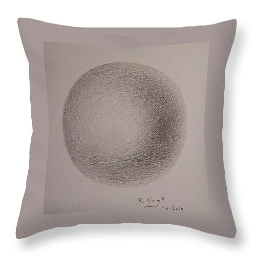 Roena King Throw Pillow featuring the drawing Simply A Ball by Roena King