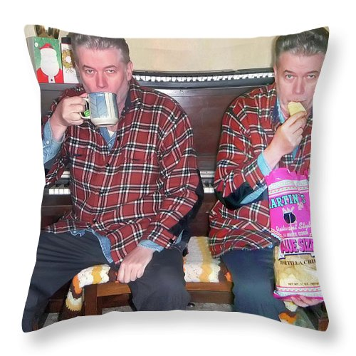 2d Throw Pillow featuring the photograph Sip And Dip by Brian Wallace