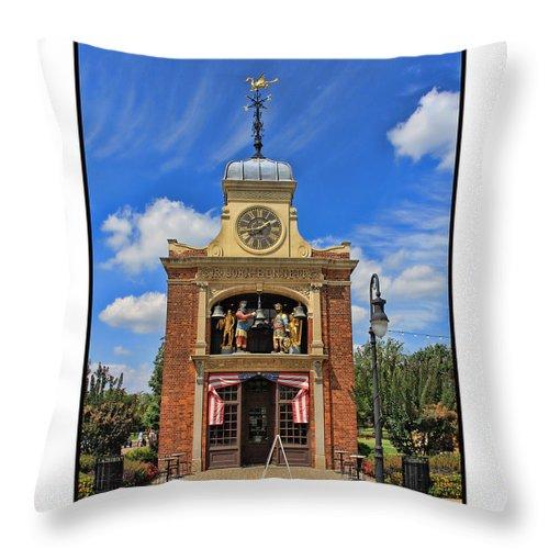 Sir John Bennett Throw Pillow featuring the photograph Sir John Bennett Clock Shop by Jack Schultz