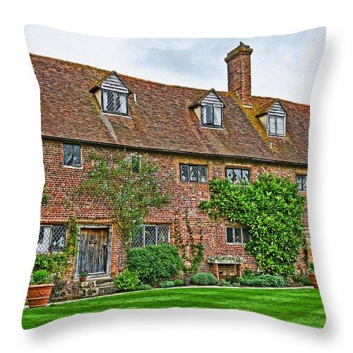 Sissinghurst Castle Throw Pillow featuring the photograph Sissinghurst Castle by Chris Thaxter