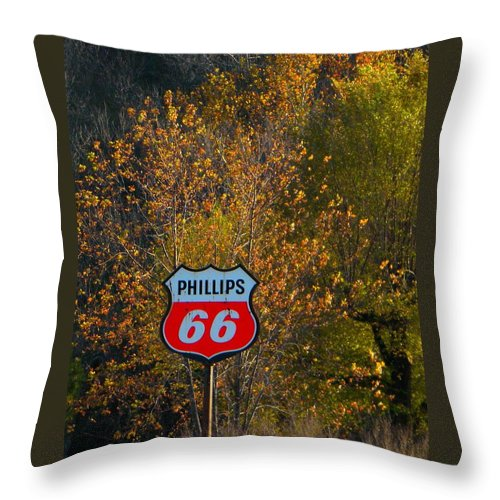 Phillips Throw Pillow featuring the photograph Sixty Six by Chris Berry
